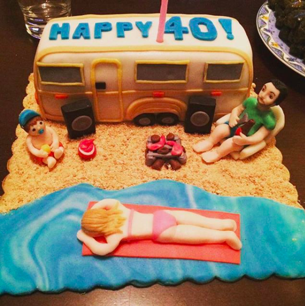 The 3 Under 5 Family Made Into A Scrumptious Camping Themed Cake