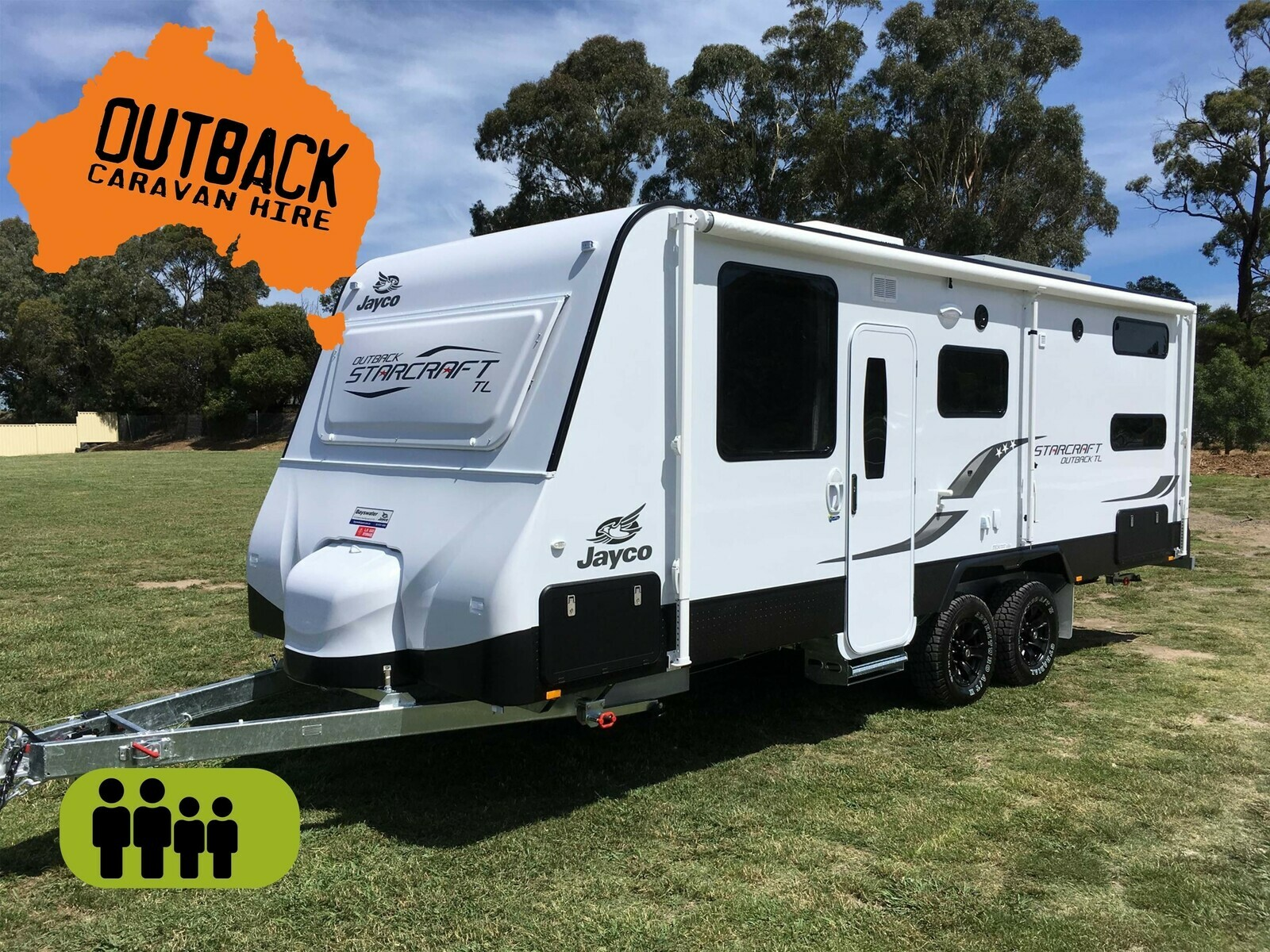 Jayco Starcraft Outback 22ft with AIR CON & GAS DUCTED HEATING - Cover Image