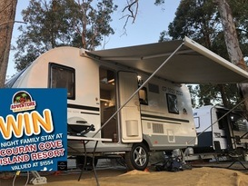 Lightweight full size family caravan for hire Brisbane
