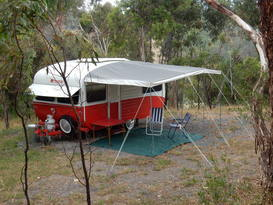 Ruby the retro caravan. Camping like it used to be.