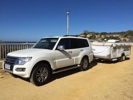 Vehicle and Camper Trailer Combo Swan/Pajero