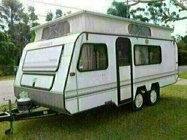 Viscount Poptop Family Caravan 3 bunks.