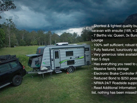 Off Grid Family Long Term Easy Towing Caravan