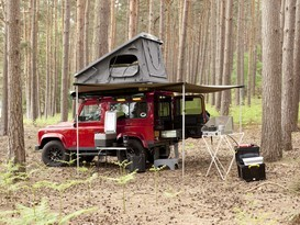 Adventure Ready Defender 90 with roof tent