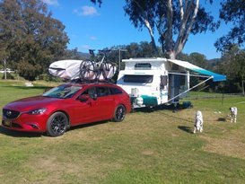 Free camp ready and easy to tow with a medium to large car!