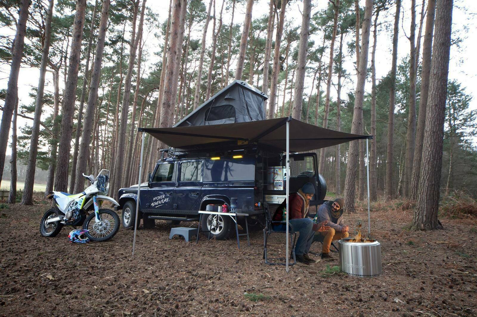Adventure Ready Defender 110 with roof tent - Cover Image