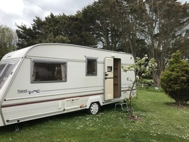 Bailey four berth caravan