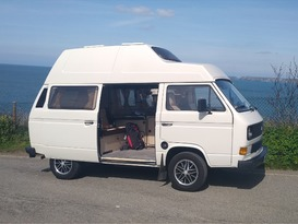 Drive in style with this classic VW Westfalia camper