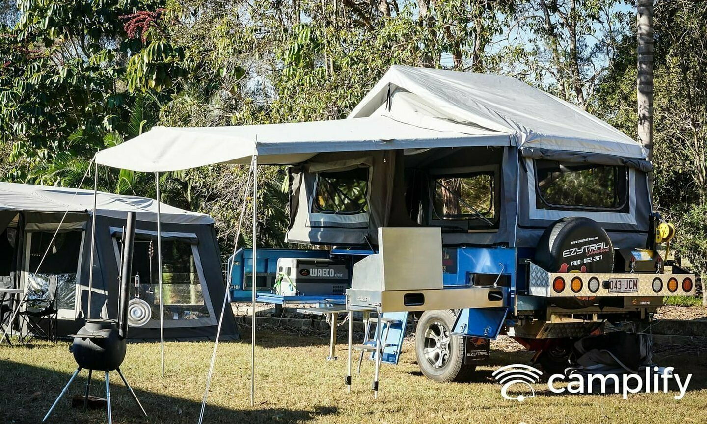 EzyTrail Stirling SE Camper Trailer Hire Brisbane - Cover Image