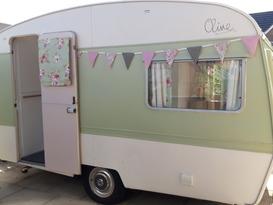 Olive the vintage caravan
