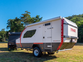 Extreme off road caravan designed to go anywhere - Track Trailer Topaz