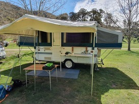 Jayco Hawk with the lot