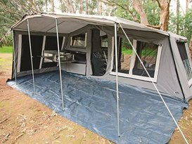 Get away from it all in our soft floor camper