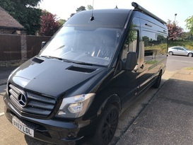 Sporty looking Mercedes Sprinter motorhome