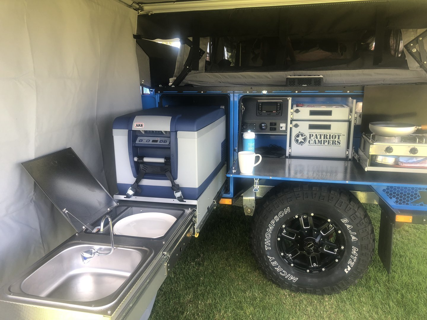 "Soft-floor Camper Trailer for Hire in Adelaide SA from $99 0 ""Bluey"