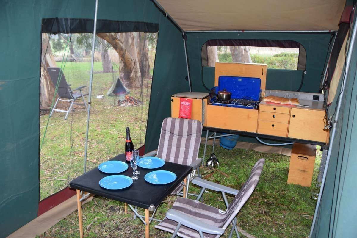 """Soft-floor Camper Trailer for Hire in Lonsdale SA from $65 0 """"Sar"""