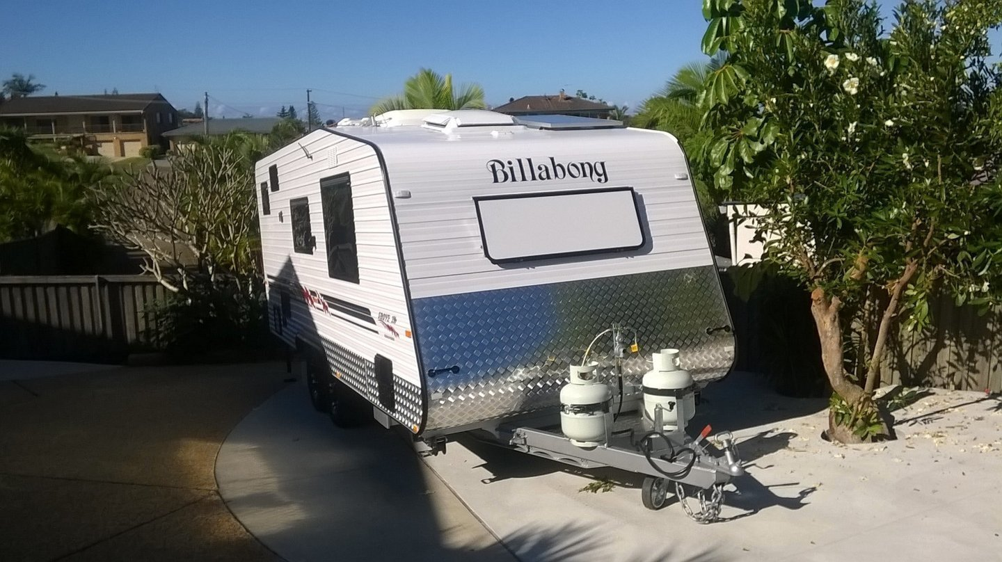 """Caravan for Hire in Port Macquarie NSW from $150 0 """"Billabong Red"""