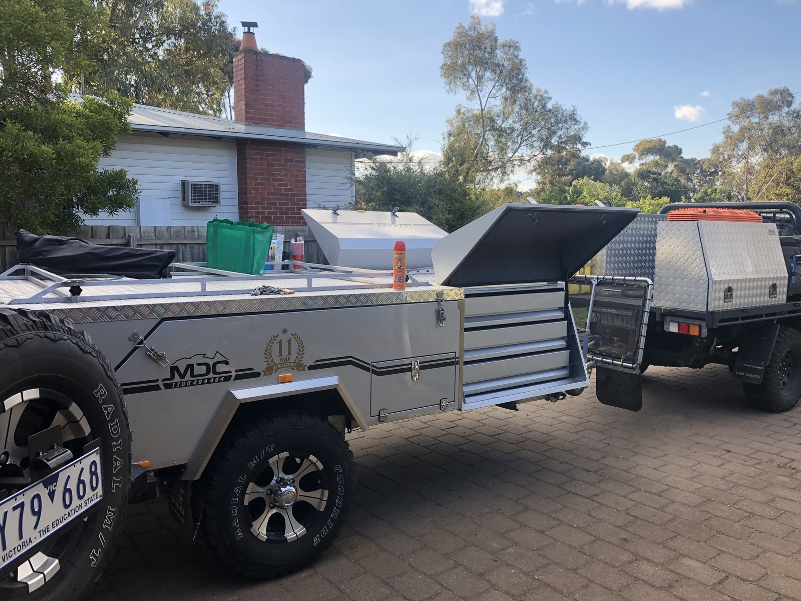 "Hard-floor Camper Trailer for Hire in Inverleigh VIC from $65 0 ""MDC"