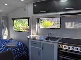 Cruze -free tow & setup* (near-new family van, shower & toilet, very light & easy self-tow) - Image #1