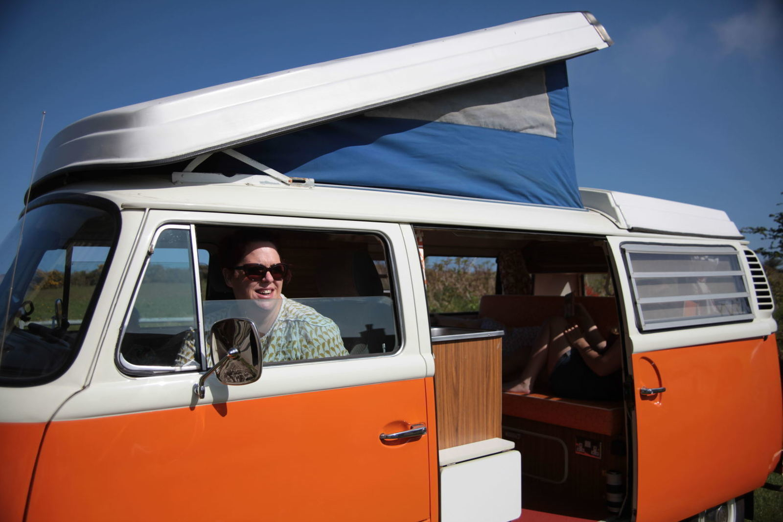 Campervan For Hire In Falmouth From 70 00 Blossom Classic Vw Camper Van Hire In Cornwall Camplify