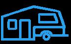 Soft floor camper trailer blue